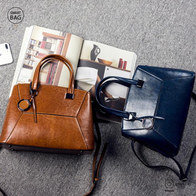 Классическая повседневная женская кожаная сумка