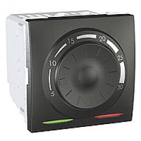 MGU3.501.12. Термостат отопление/кондиционирование. 8А(+5.30°С). 2-модульный. Графит Unica