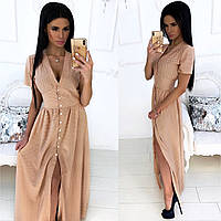 Женское стильное платье в горох, женское длинное платье