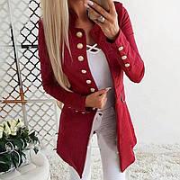 Удлинённый костюмный пиджак с длинным рукавом, однобортный