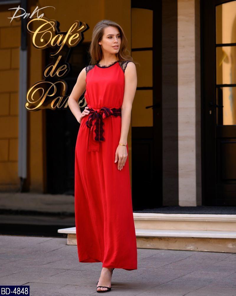c7bddb5716404ad Женское красивое длинное летнее макси платье с коротким рукавом  (штапель+кружевной гипюр) 2