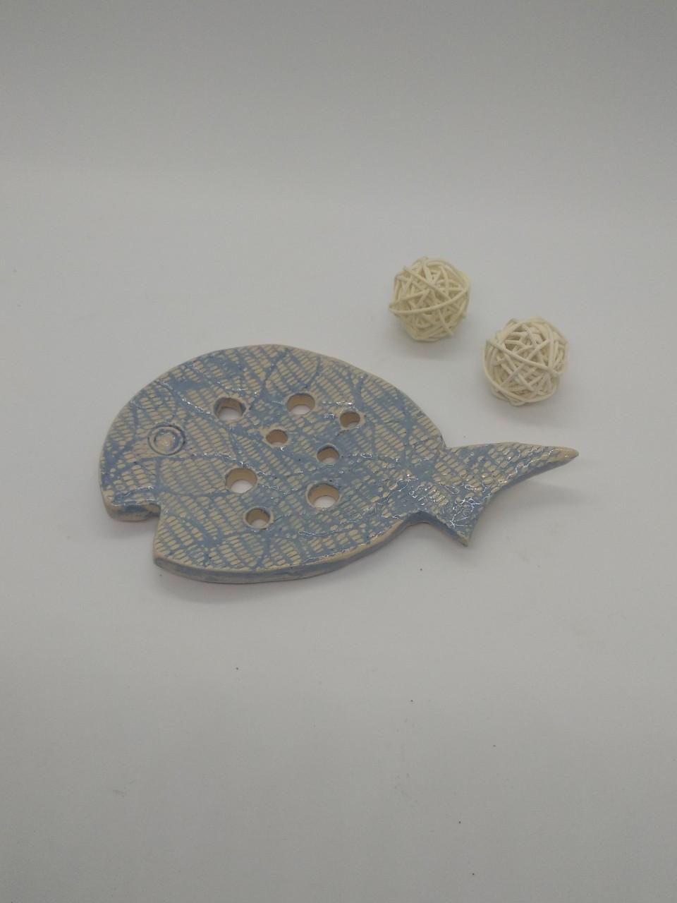 Керамічна мильничка-рибка