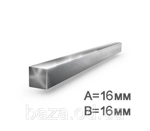 Квадрат металлический 16x16 мм