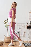 Летний костюм с лампасами для кормящих мамочек