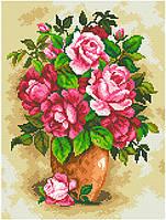АМС-105. Набір алмазної мозаїки Рожеві троянди.