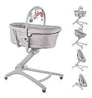 Кроватка-стульчик Chicco Baby Hug 4 в 1 цвет серый Glacial