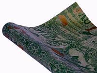 """Бумага упаковочная пт410.1 подарочная двухсторонняя зеленая """"Vintage золтая роза"""" крафт 0,7х10м"""