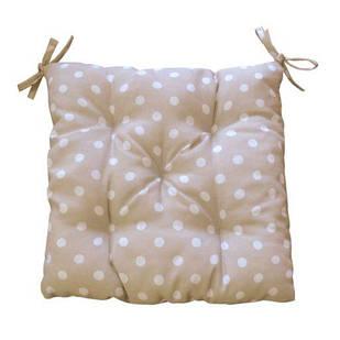 Подушка на стілець горох бежева 40х40 см