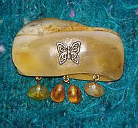Янтарь брошь янтарь с натуральным королевским янтарем, фото 1