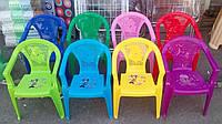 Детские пластиковые стулья со спинками