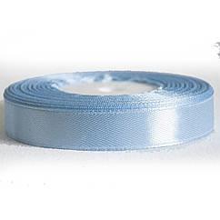 Атласная лента 1 cм Голубая