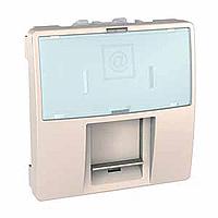 MGU9.460.25. Накладка для компьютерной розетки. AMP/KRONE. 2-модуля. Слоновая кость Unica