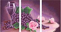 АМТ-002. Набір алмазної мозаїки Фіолетовий триптих.