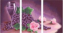 АМТ-002. Алмазная мозаика Фиолетовый триптих. (3 картины 25х43см)