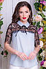 Блузка с кружевом Сарита 48-60рр, фото 4