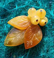 Янтарь брошь янтарь ветка большая с натуральным королевским янтарем, фото 1