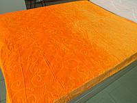 Простынь микрофибра однотонная (оранжевая)