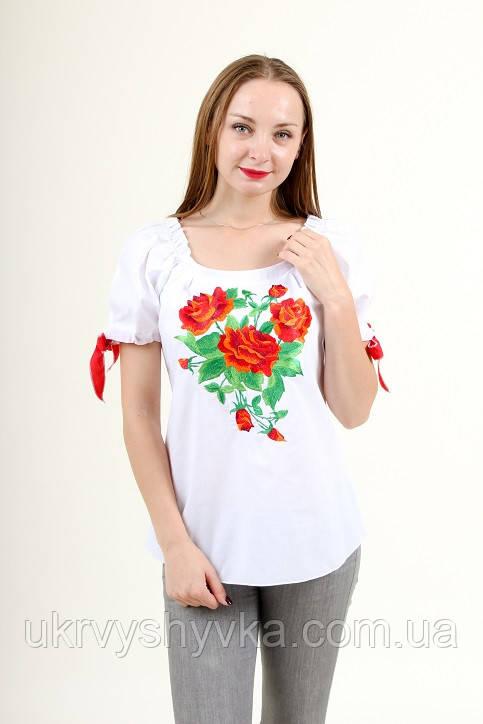 """Вишита літня блузка """"Троянди для тебе"""""""