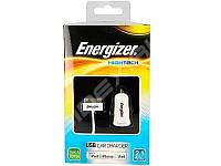 Автомобильное зарядное устройство Energizer АЗУ USB + кабель 30 pin для Apple iPhone/iPad 2.1A (DC1U