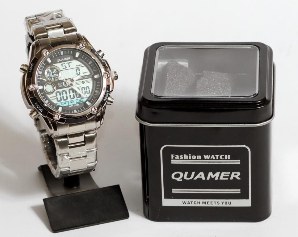Часы наручные Quamer 1313 в коробке