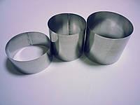 Кольца для гарнира металл 3шт.d10h8см.,d8h8.,d9h4.5(код 04124)