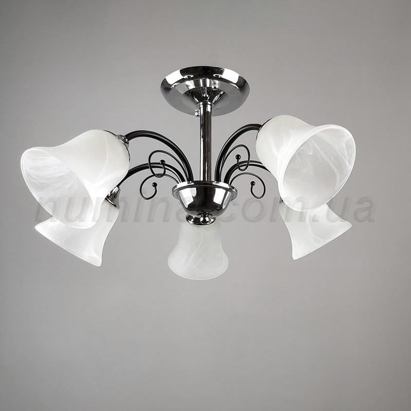 Люстра потолочная на пять ламп 20-MH-32139/5 MTBK+CR