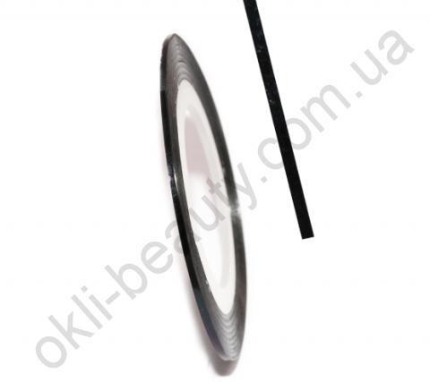 Декоративна самоклеюча стрічка (0,8 мм) № 6 Колір: чорний