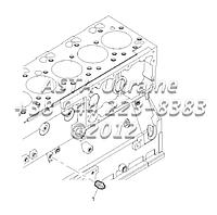 Датчик давления масла, двигатель 1104C-44T, RG38101 G1-25-2, фото 1