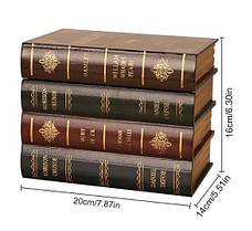 Гарний оригінальний книжковий тайник. Прихована скринька у вигляді книжок., фото 2