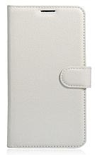 Кожаный чехол-книжка для Huawei P9 Lite белый