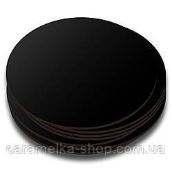 Подложка под торт уплотненная ДВП чёрная, 30см, круглая