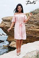 Женское летнее платье №1594(р.50-56) персик, фото 1
