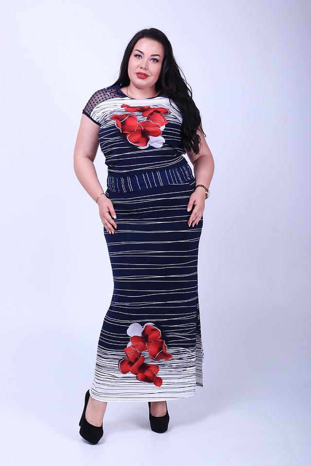 Фото Длинного ботального летнего платья Ирма-3