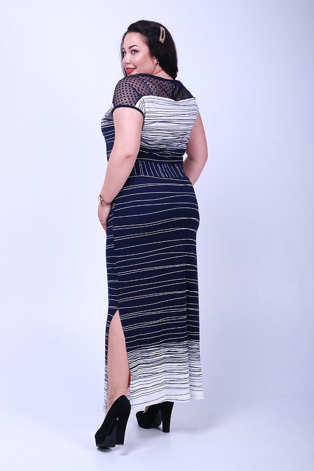 Фото-1 Длинного ботального летнего платья Ирма-3