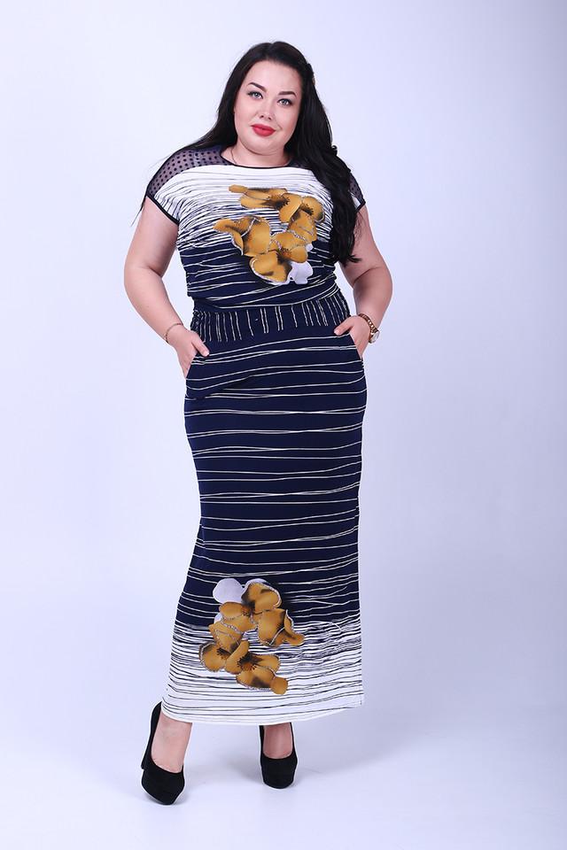 Фото Длинного ботального летнего платья Ирма-2