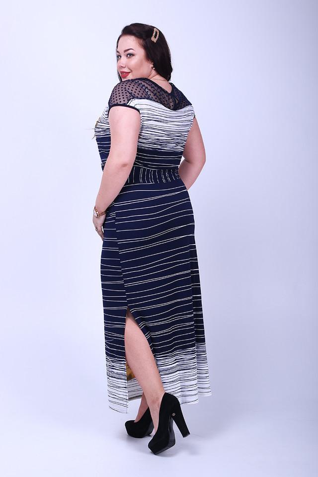 Фото-1 Длинного ботального летнего платья Ирма-2