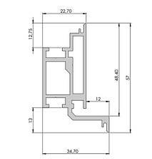 Алюминиевый короб для межкомнатных дверей | Комплект дверной коробки В2400х900, фото 2