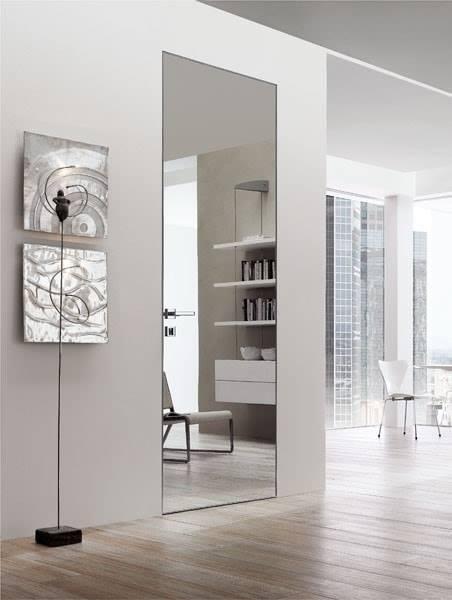 Дверное полотно под скрытый монтаж | Комплект профилей дверного полотна под коробку  В2300х900