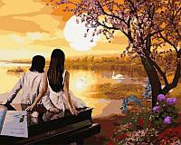 Раскраски для взрослых 40×50 см. Закат в раю