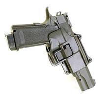 Страйкбольный пистолет Galaxy G6+ (Colt Hi-Capa) с кобурой