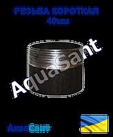 Резьба короткая стальная 40 мм, фото 1