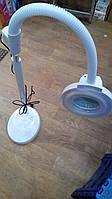 Лампа лупа напольная на гибком шланге
