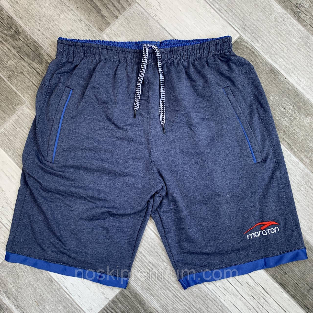 Шорты мужские хлопок Maraton, размеры 46-54, джинс, 05602