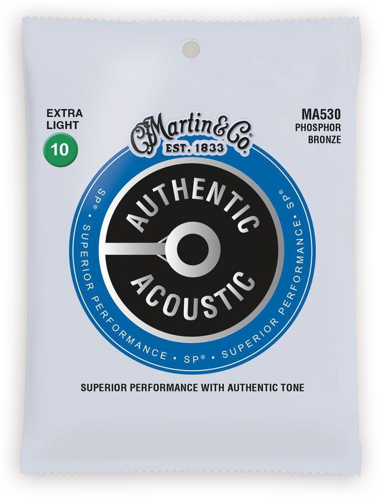Струны для гитары MARTIN MA530 Authentic Acoustic SP 92/8 Phosphor Bronze Extra Light (10-47)