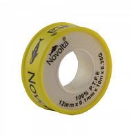 Фум — лента желтая газ 0,1мм*12мм — (10м)