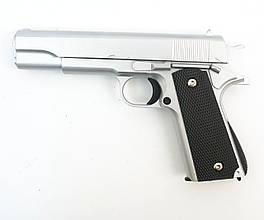 Страйкбольный пистолет Galaxy G13S (Colt 1911) серебристый