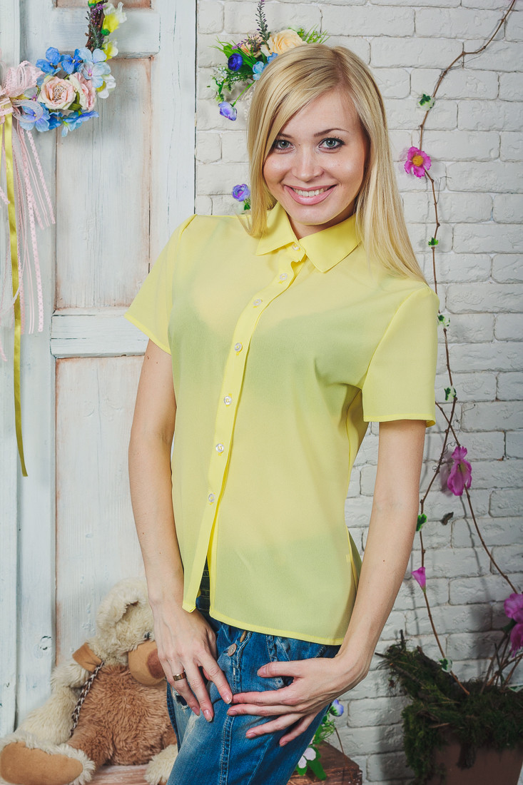 Блуза женская желтая