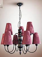 Люстра для зала, с абажурами