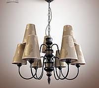 Люстра для зала, гостиной с абажурами