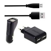 Зарядное устройство Energizer СЗУ (2 выхода USB) + АЗУ + кабель micro USB 1A (32UEUCMC2)
